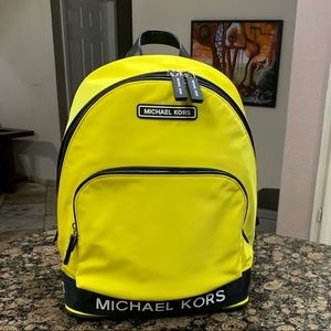 Michael Kors Large Nylon Backpack - Neon Yellow